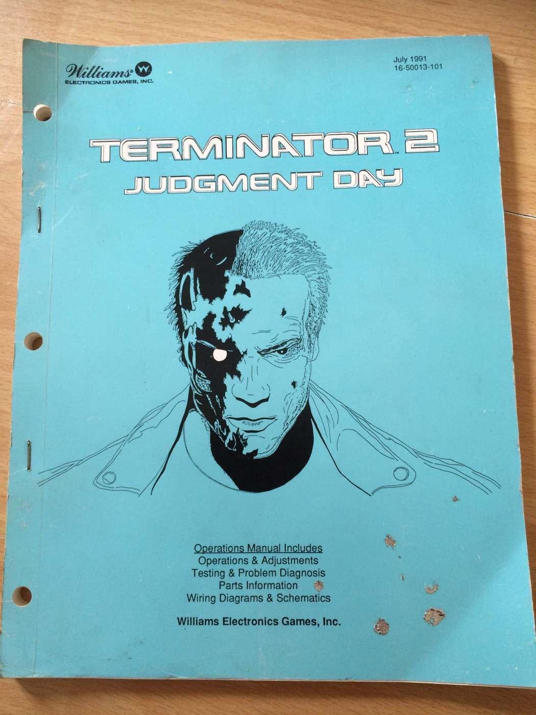 Williams Terminator 2 Judgment Day Pinball Manual London Wiring Diagrams