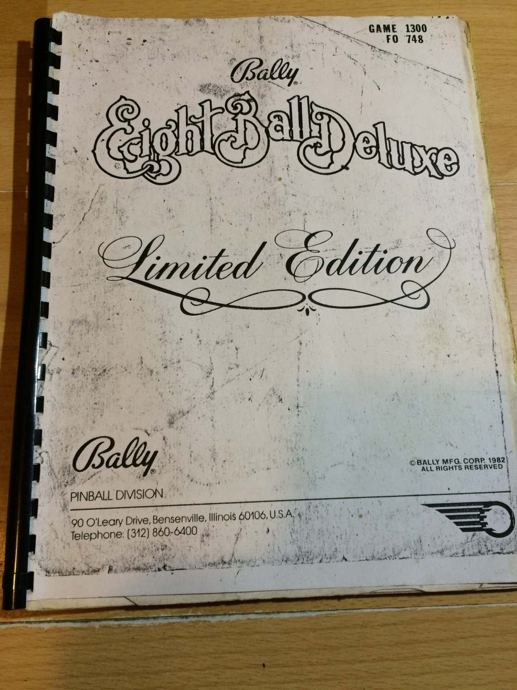 Eight Ball Deluxe Pinball Manual